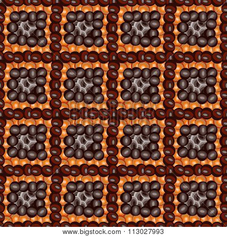 Coffee Beans Abstract Seamless Pattern