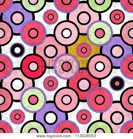 Colored Circles Grunge Effect Beautiful Background