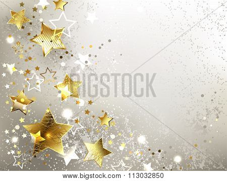 Gray Background With Gold Stars