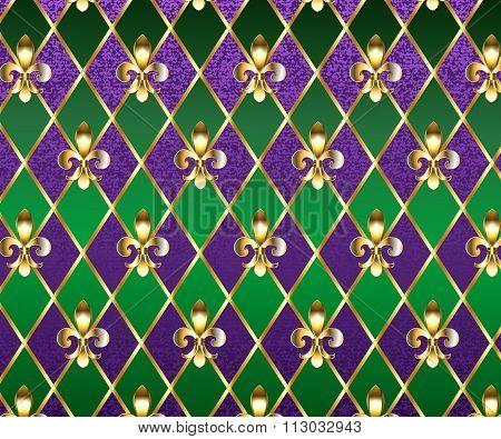 Jewelry Background Mardi Gras