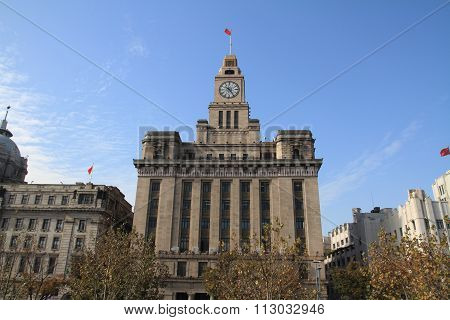 Customs house in The bund Shanghai People's Republic of China
