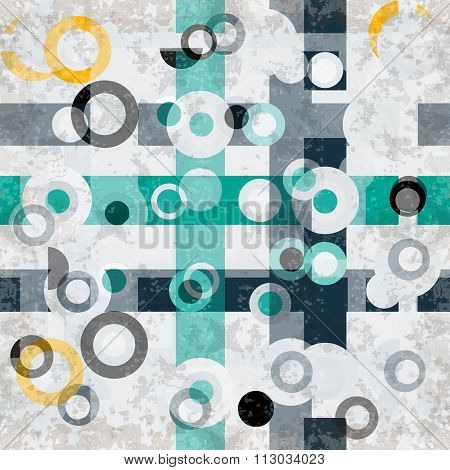 Circles Grunge Effect Abstract Geometric Background