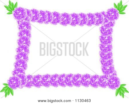 floral frame for your text - vector illustration poster