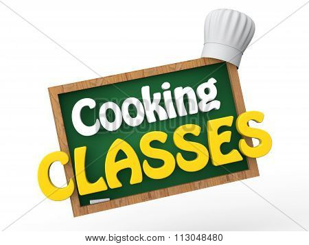 3d green board with chef hat