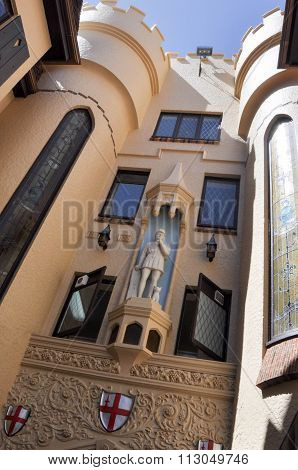 London Court Architecture Detail: Perth, Australia