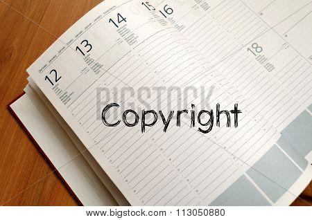 Copyright Write On Notebook
