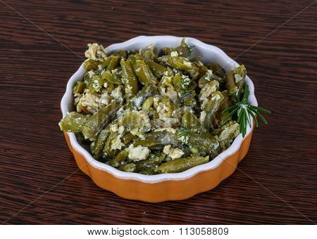 Roast Green Beans With Egg