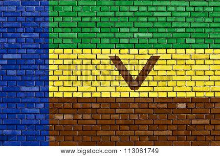 Flag Of Venda Painted On Brick Wall