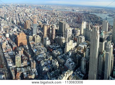Aerial image of New York City
