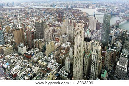 Aerial image of New York City, USA