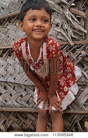 Little girl in Sri Lanka
