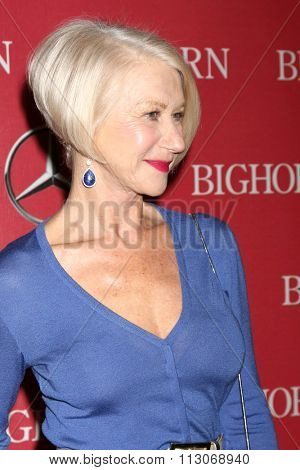 PALM SPRINGS - JAN 2:  Helen Mirren at the 27th Palm Springs International Film Festival Gala at the Convention Center on January 2, 2016 in Palm Springs, CA