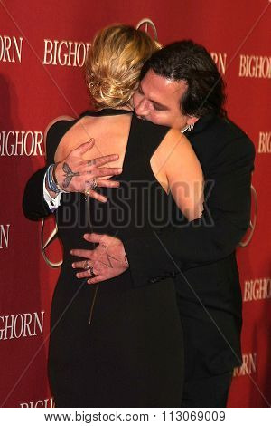 PALM SPRINGS - JAN 2:  Kate Winslet, Johnny Depp at the 27th Palm Springs International Film Festival Gala at the Convention Center on January 2, 2016 in Palm Springs, CA