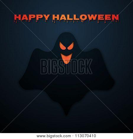 Stock Vector Happy Halloween. Ghost