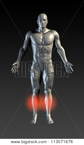 Shin Splints with Red Glow on Area Series poster