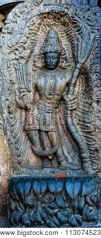 Lord Rama's statue captured at Channakesava temple at Belur on December 30th, 2015