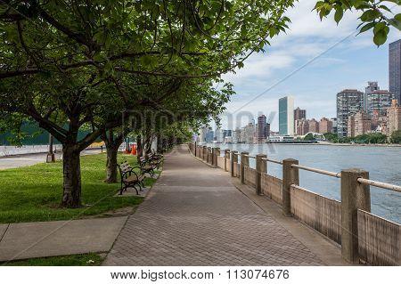 Roosevelt Island In New York City.