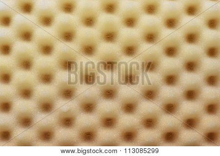 Foam acoustic sponge surface background