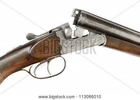 Hunting Rifle On White Background