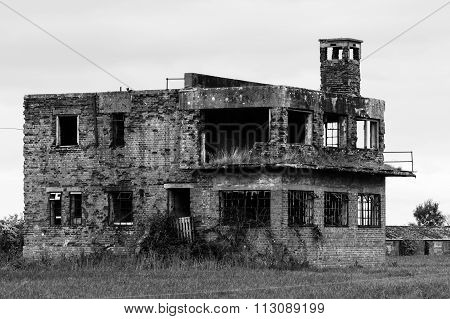 RAF Charmy Down control tower, Somerset, UK