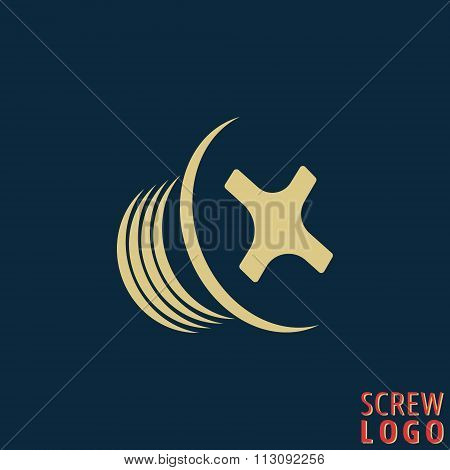 Abstract screw icon