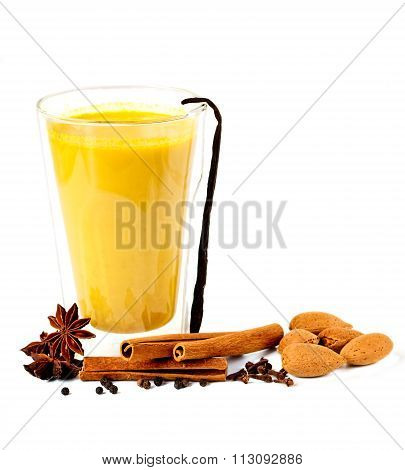 Golden Milk With Spices