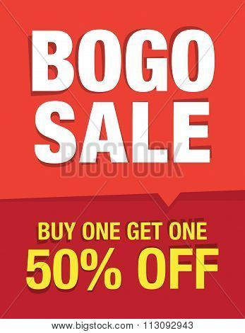 Bogo Sale Sign