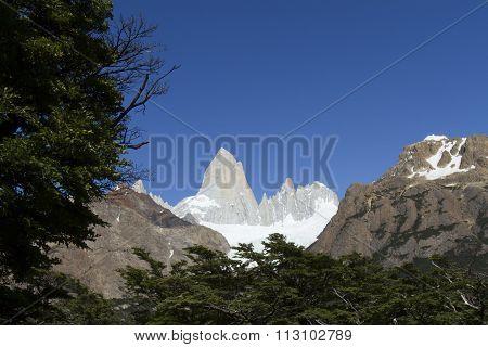 Glacier At Mt Fitzroy, Patagonia