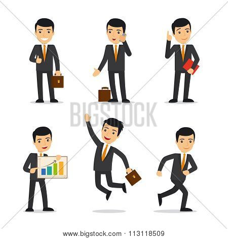 Businessman isolated vector