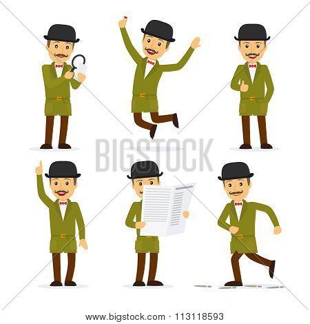 Detective character vector