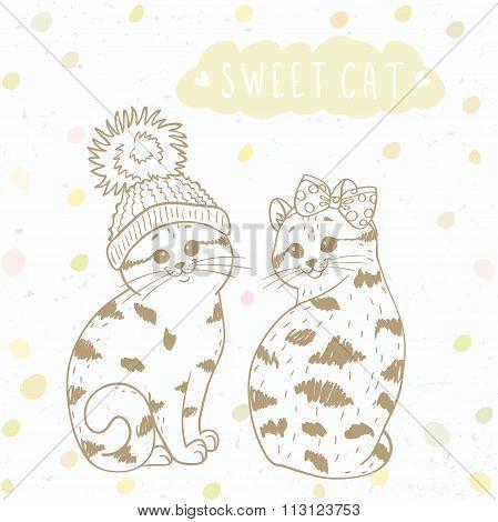 Two cute kitten
