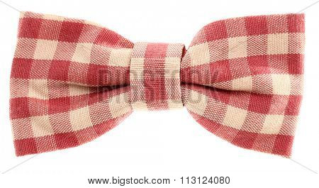 Red white plaid hair bow tie vintage