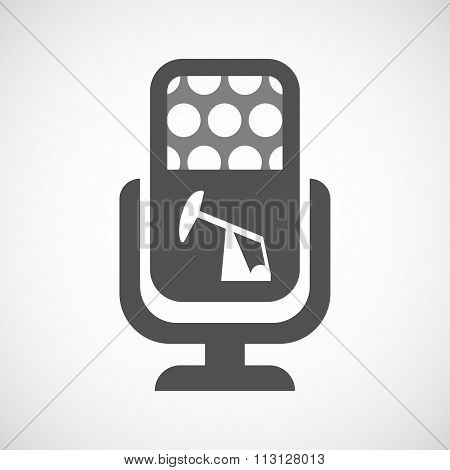 Isolated Microphone Icon With A Horsehead Pump