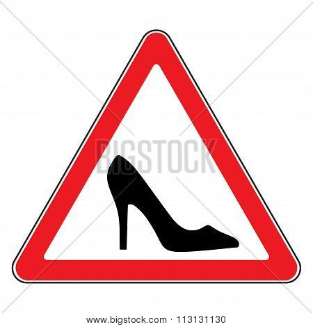 High Heel Shoes Road Sign