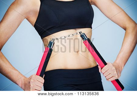 Nunchaku Workout Girl