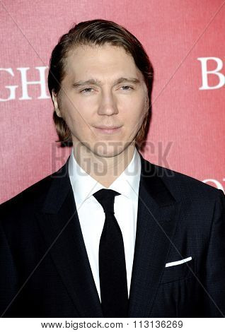 Paul Dano at the 27th Annual Palm Springs International Film Festival Awards Gala held at the Palm Springs Convention Center in Palm Springs, USA on January 2, 2016.