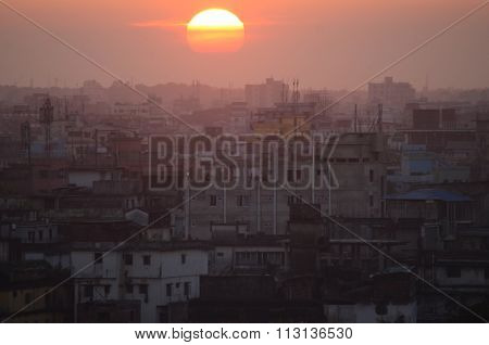 Sunset over Dhaka, Bangladesh