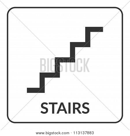 Stair Sign. Flat Vector Web Icon