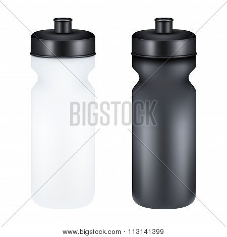 Mockup Plastic Sport Nutrition Drink Container.