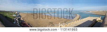 People In Sale Beach. Rabat, Morocco.