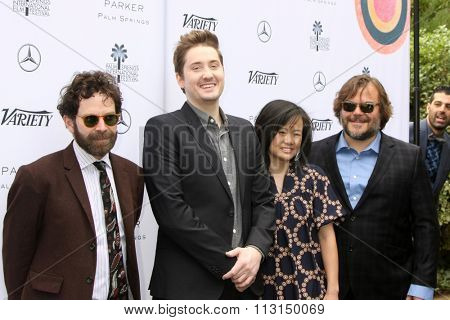 PALM SPRINGS - JAN 3:  Charlie Kaufman, Duke Johnson, Janine Lew and Jack Black at the Variety Creative Impact Awards Brunch at the The Parker Hotel on January 3, 2016 in Palm Springs, CA