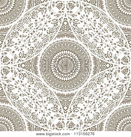Decorative Lace Doily Seamless Pattern