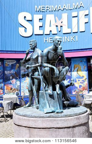 Monument To Vacationers Workers At An Amusement Park In Helsinki