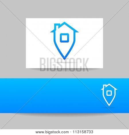 Home sign - logo template. Home Navigation. Home sweet home,  home sweet home sign,  sign, house sign,  home icon, home logo.