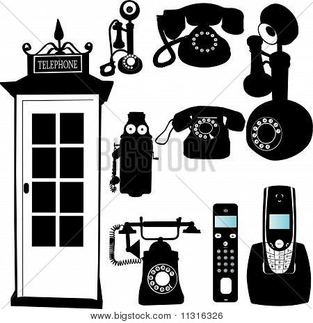 telephone collection - vector