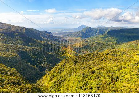 Black River Gorges National Park on Mauritius. It covers an area of 67.54 km². The park protects most of the island's remaining rainforest.
