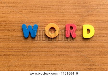 Word Colorful Word