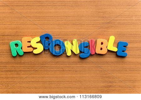 Responsible Colorful Word