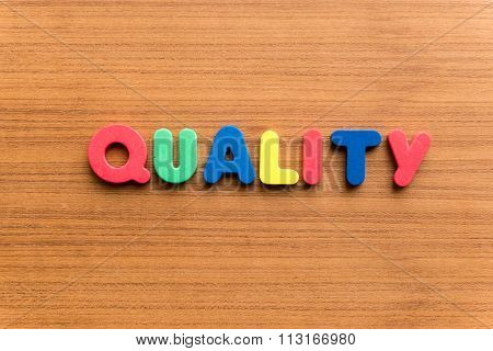 Quality Colorful Word