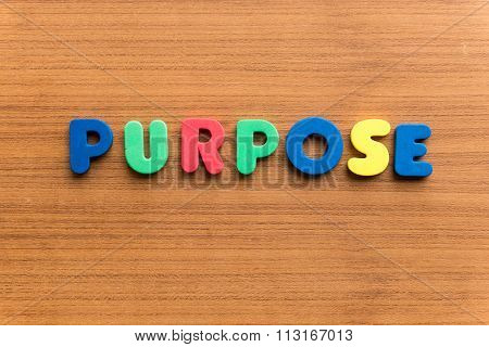 Purpose Colorful Word